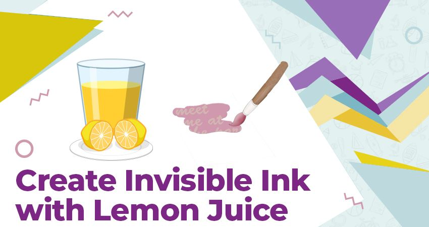 Create Invisible Ink with Lemon Juice