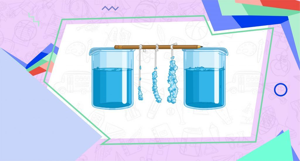 Use beaker for rock candy science experiment