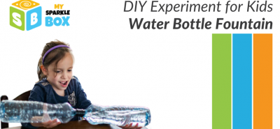 Water Bottle Fountain experiment for kids