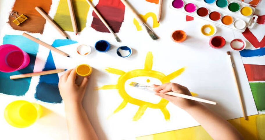 make paper plate sun as art project for kids