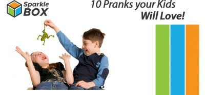 A child playing prank on his sister