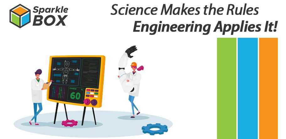 engineering field is similar to and different from science field