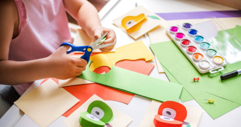 a child making Craft for Kids