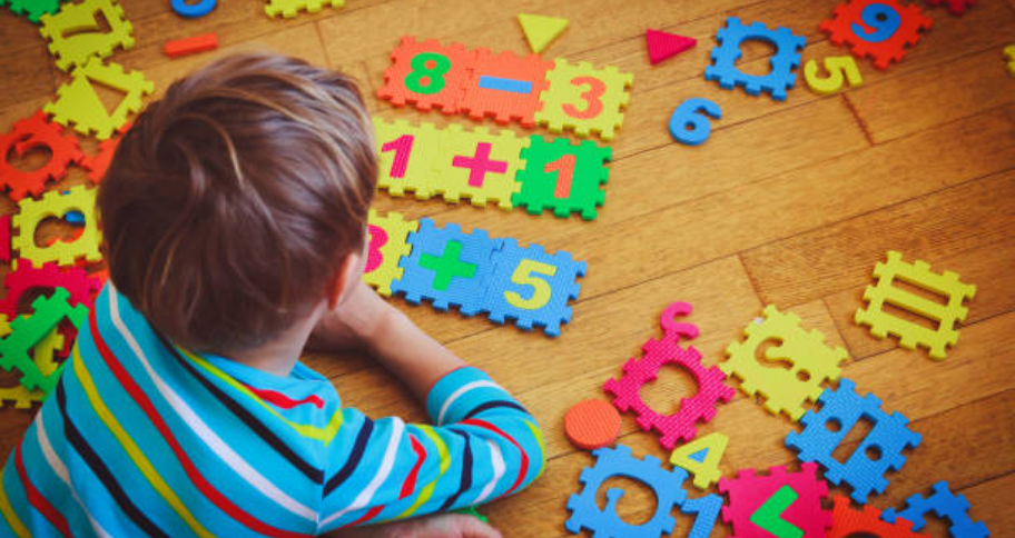 child worrying over Math Puzzles for Kids